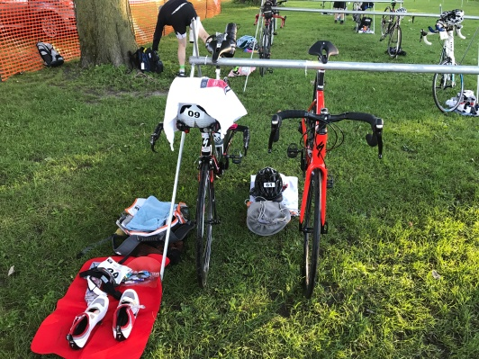 Our bikes racked side by side